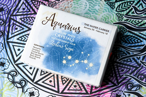 Aquarius Zodiac Crystal Gift-Box