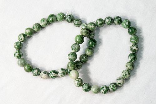 Green Moss Agate Elastic Bracelet