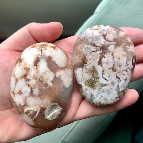 Flower Agate Palm Stone Md