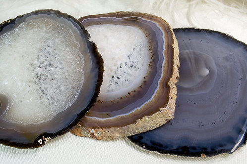 Agate Slice Coasters- Sets of 4!