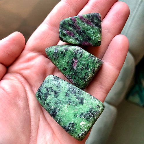 Ruby Zoisite Unpolished Stone