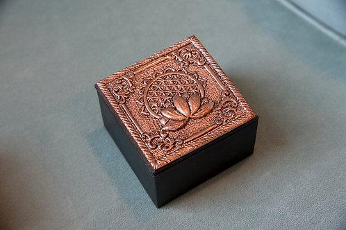 Bronze Flower of Life Trinket Box