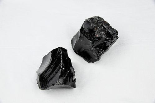 Black Obsidian Raw Chunks