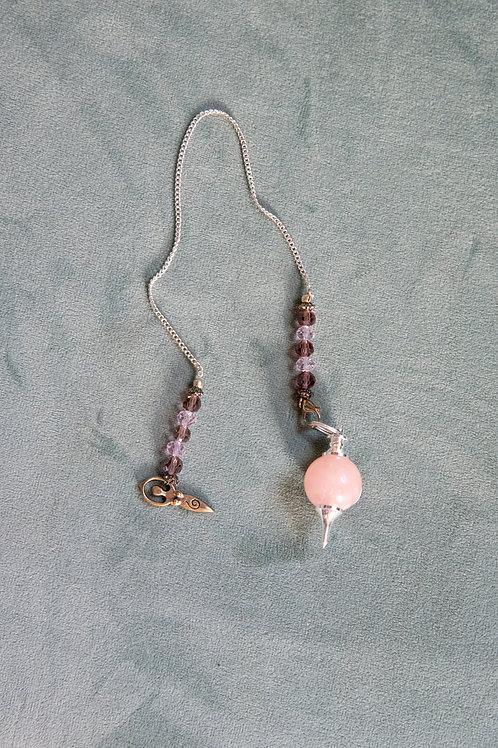 Rose Quartz Sephoroton Pendulum w/Goddess Charm