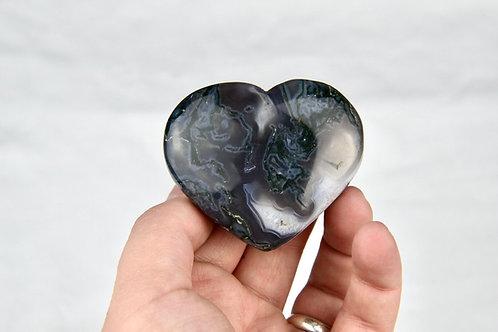 Moss Agate Heart 1