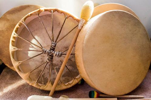 Elk-Skin Handmade Drum