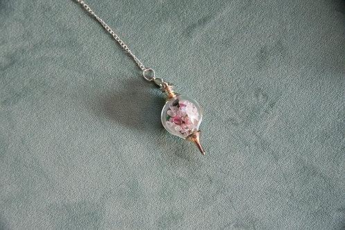 Love- Rose Quartz & Emerald Pendulum
