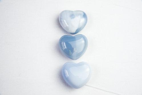 Blue Chalcedony SM Heart