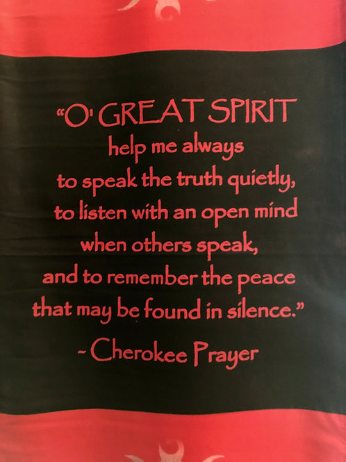 Cherokee Prayer LG Banner