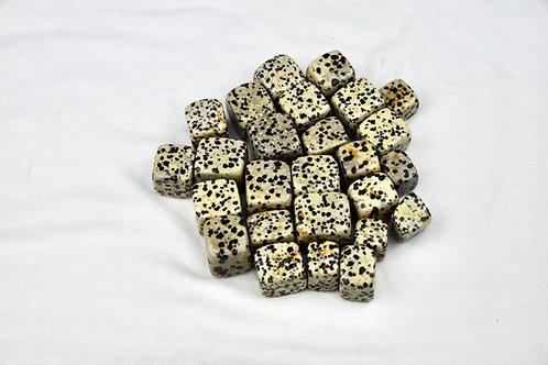 Dalmatian Jasper Tumbled Cube