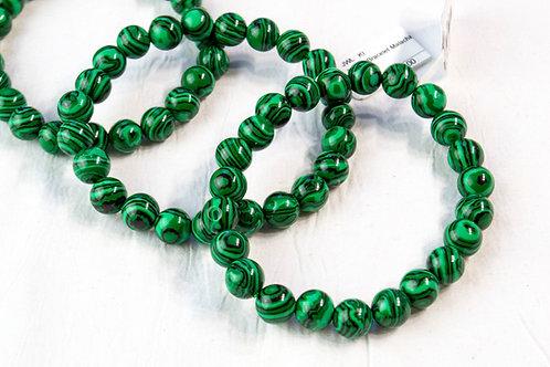 Malachite Bracelet: Emotional Balance, Amplifies Energy, Leadership