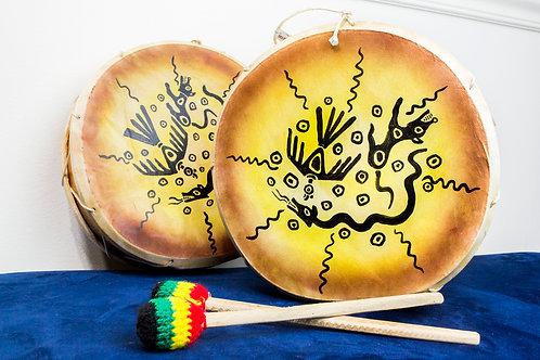 Peruvian 2-Sided Hand Drum