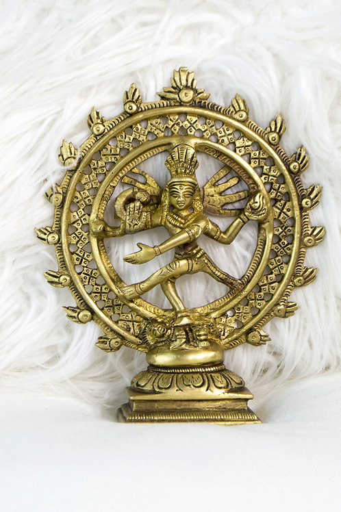Brass Statue of Natraj, Double Ring