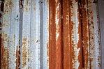 Rusted garage walls