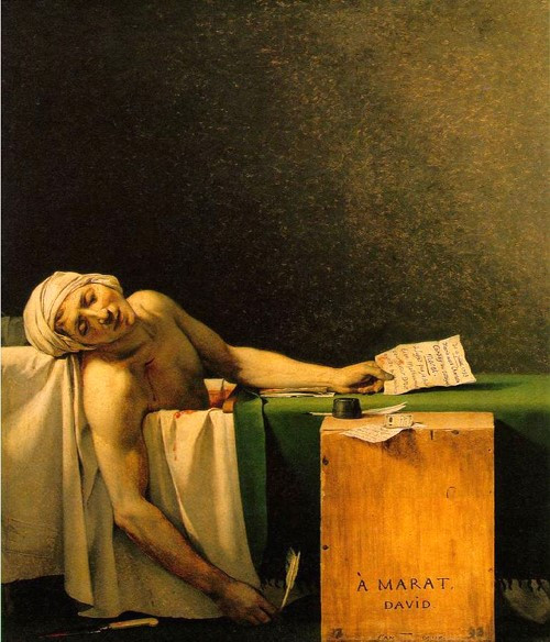 Jacques-Louis David. Oil on canvas. 1793