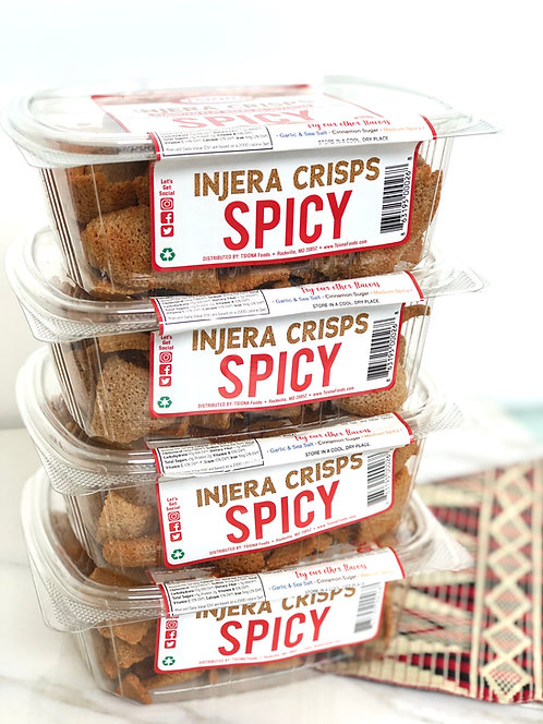 Injera Crisps Spicy (Pack of 4)