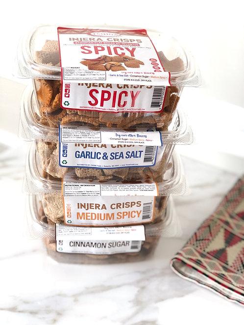 Injera Crisps Mix Variety (Pack of 4)