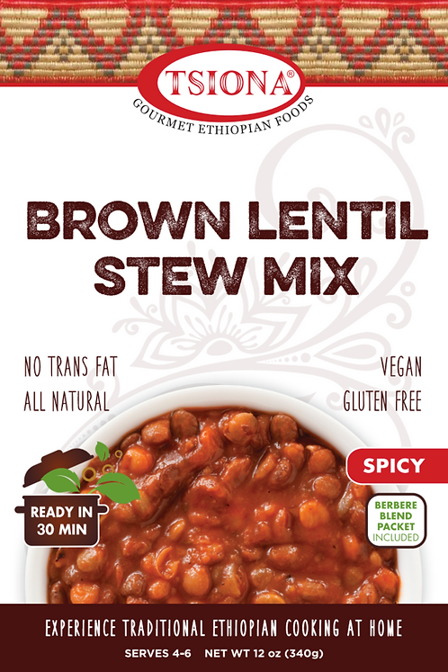 Brown Lentil Stew Mix (Spicy)