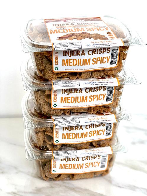 Injera Crisps Medium Spicy (Pack of 4)