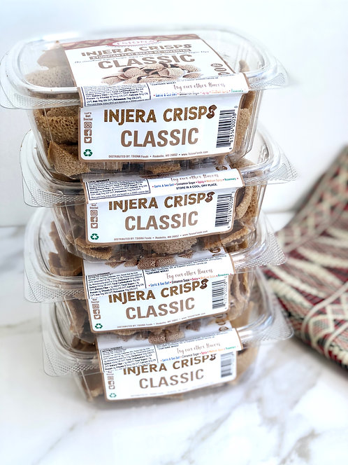 Injera Crisps Classic (Pack of 4)