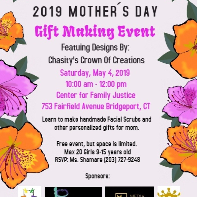 2019 Mother's Day GIFT MAKING EVENT
