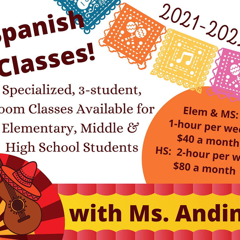 Spanish Class with Ms. Andino (High School)