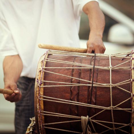 Man Playing Drum