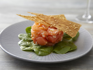 Stress, chips et filet de saumon