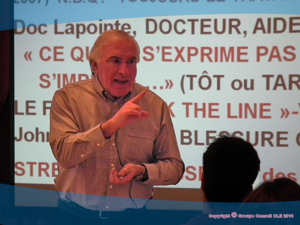 Dr Gilles Lapointe pour Groupe CLE