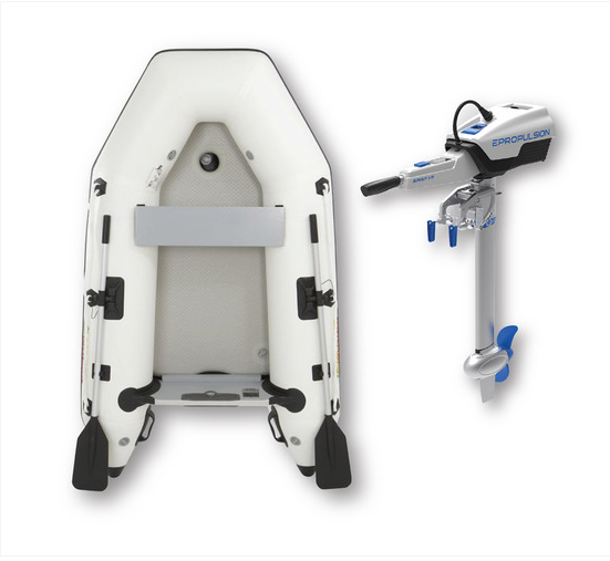 Inflatable 2.3M dinghy with electric outboard Spirit 1 Plus
