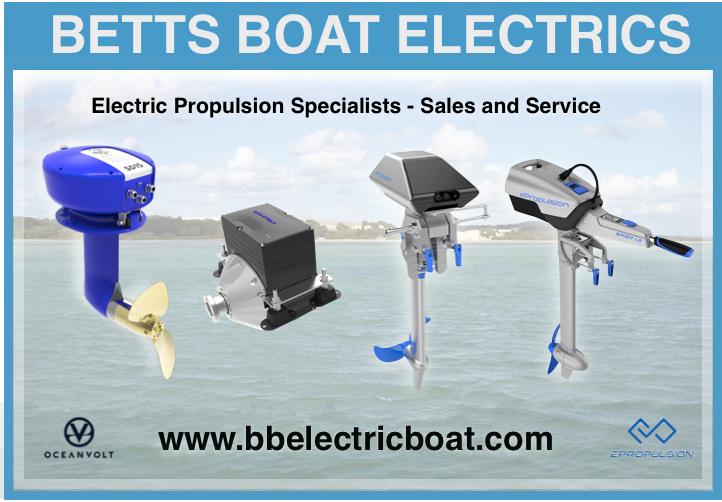 Electric boat motors EPropulsion Oceanvolt Australian sale and service Betts Boat Electrics
