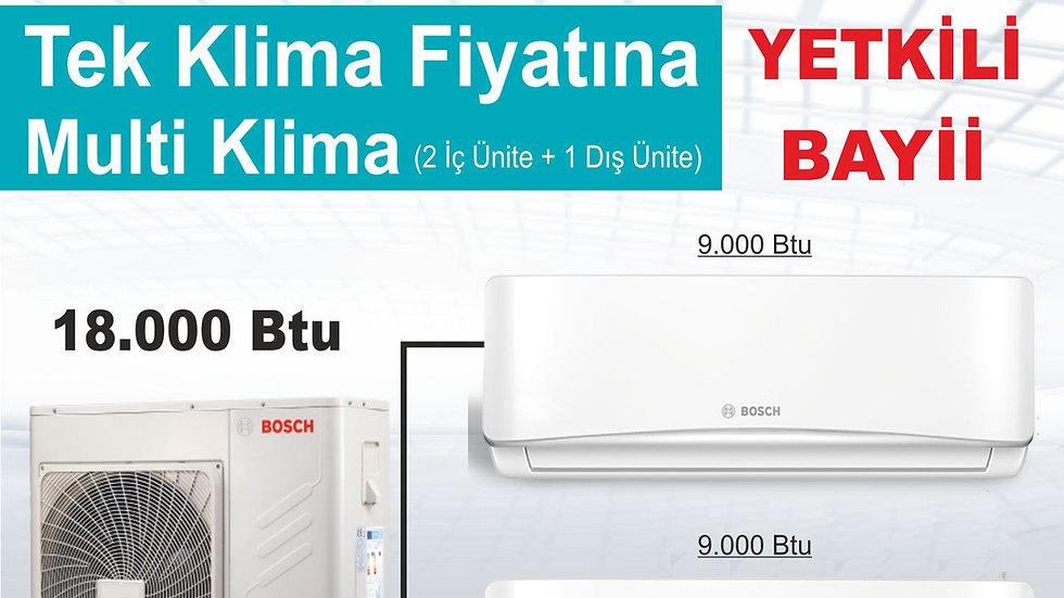 Bosch İnverter Multi Tip Klima 18.000 btu