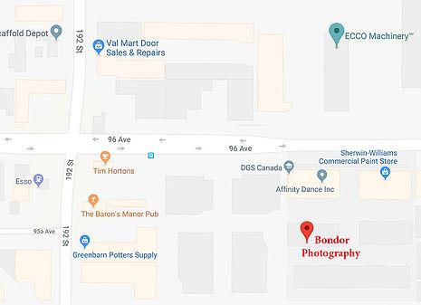 Map for Bondor Photography