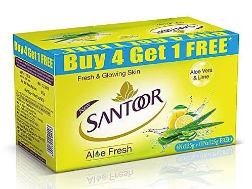 santoor Aloe fresh 125gm x 5