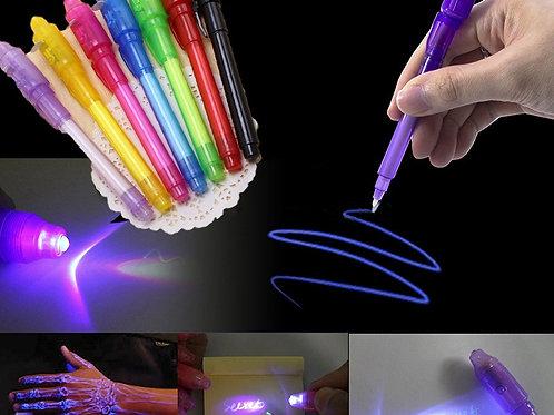 Big Head Luminous Light Pen Magic Purple 2 in 1 UV Black Light C
