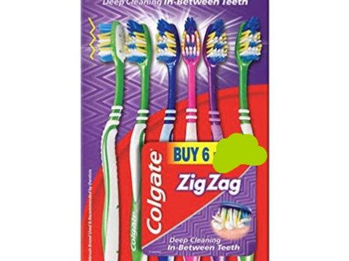 Colgate zigzag toothbrush 6 pack