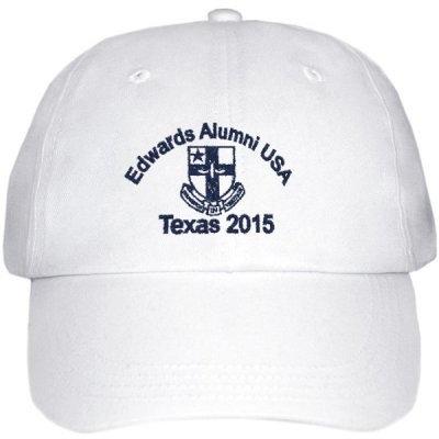 Embroidered baseball cap - White