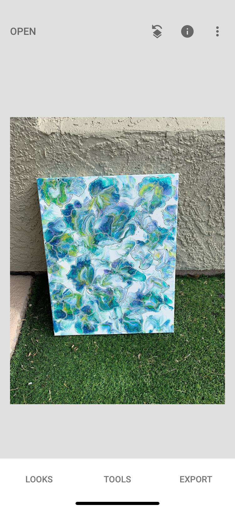 Convergence - fine art pour painting