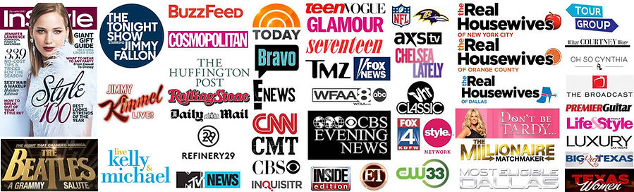 as seen on tmz buzzfeed real housewives cbs cnn the beatles mtv vh1 bravo instyle magazine