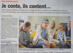 Article Courrier de l'O. 04/10/2018