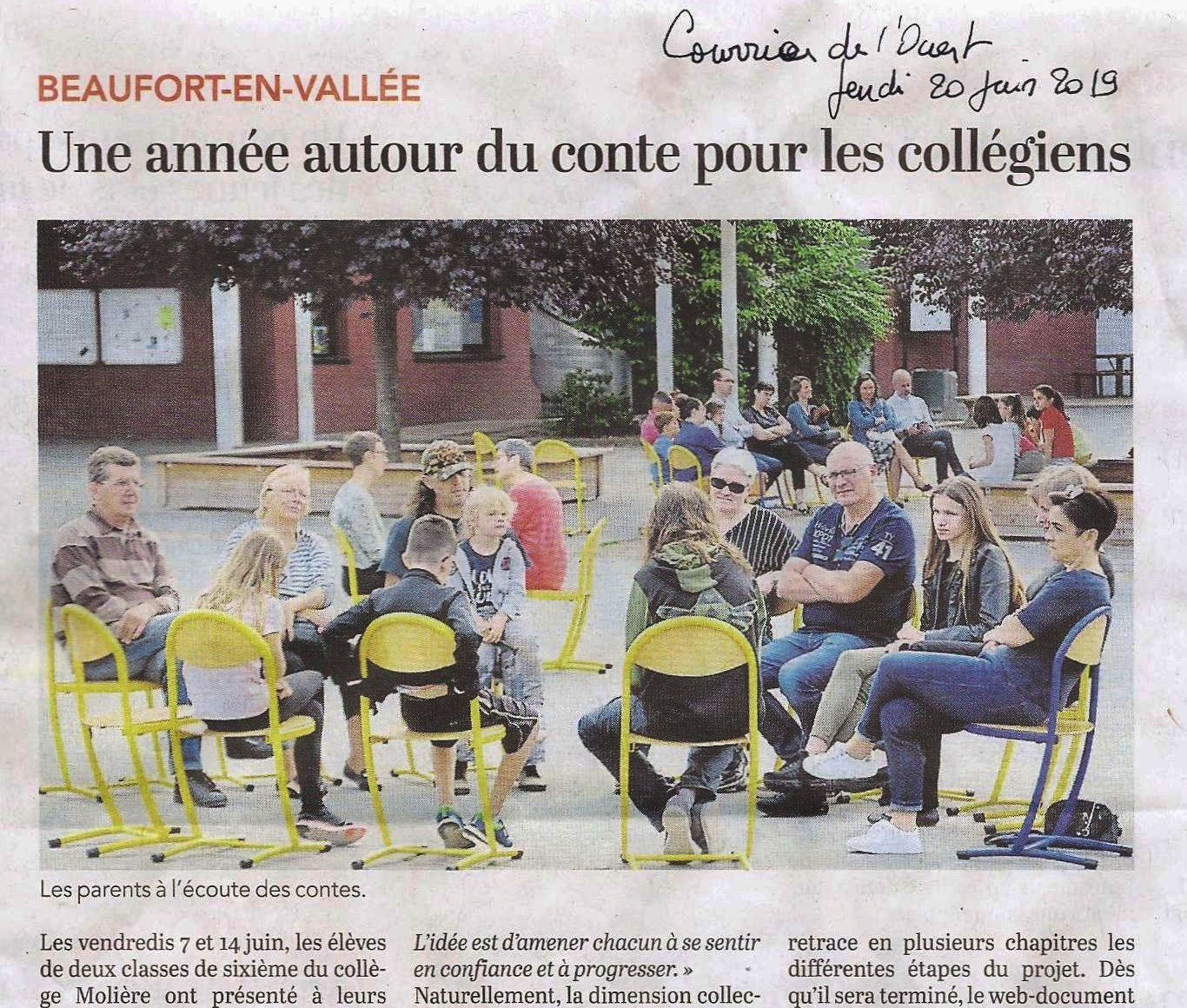 Article Courrier de l'O. - juin 2019