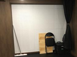 更衣スペース、タップダンス練習用の板も完備