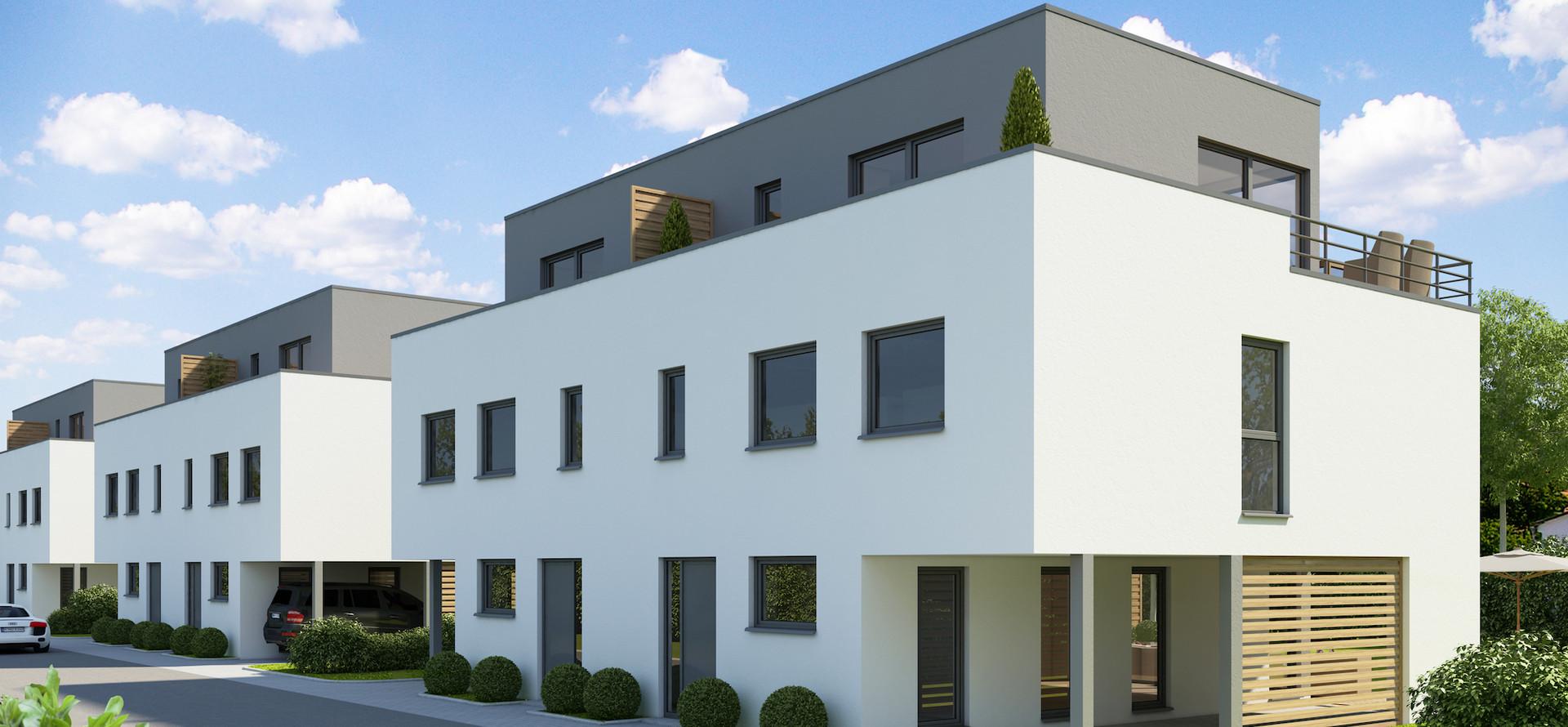 Moderne Doppelhäuser