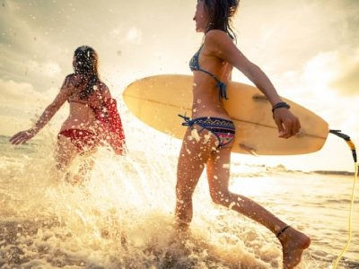 New Smyrna Girls Surfing