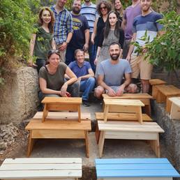 "Fun day in ""Lift"" Ecological Wood workshop -Beit Zait"