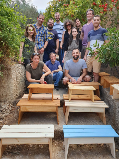 "Fun day in ""Lift"" Ecological Wood workshop -Beit Zait"