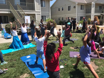 Yoga at Festival photo