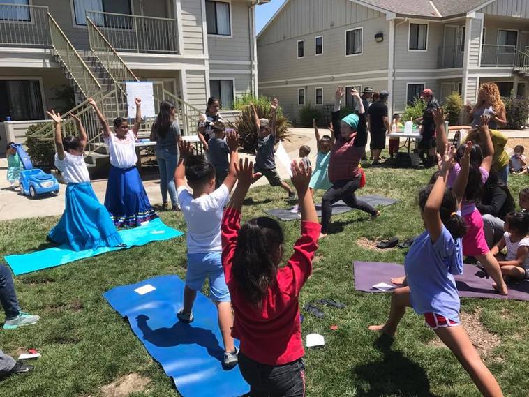 Yoga at Festival photo