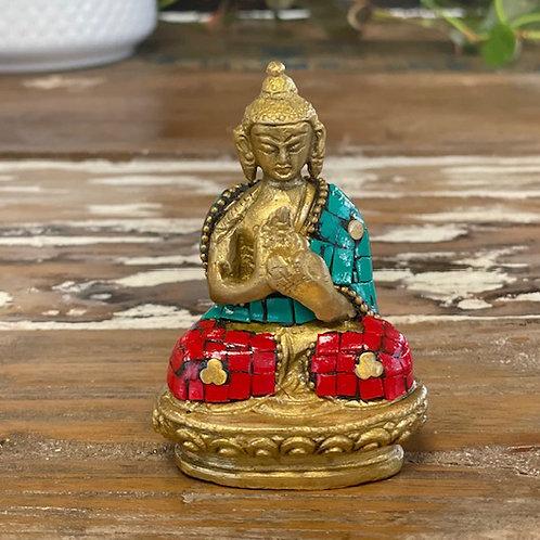 Brass Buddha Figure - Hands Up - 7.5 cm