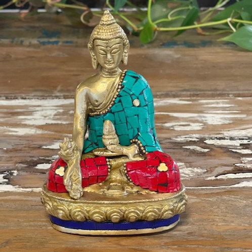Brass Buddha Figure - Hands Down - 11.5 cm